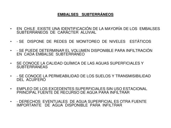 Embalses subterr neos