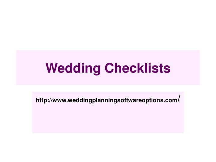wedding checklists n.