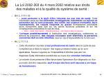 la loi 2002 303 du 4 mars 2002 relative aux droits des malades et la qualit du syst me de sant