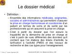 le dossier m dical