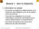 module 1 item 6 objectifs1