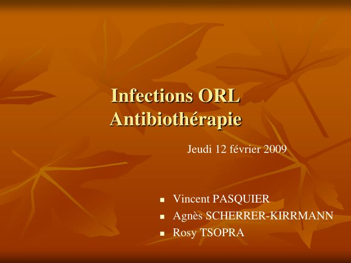 infections orl antibioth rapie n.