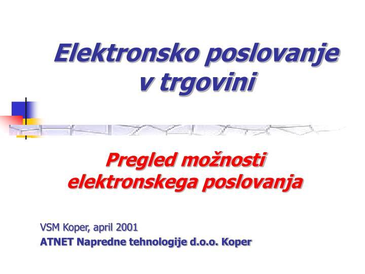 elektronsko poslovanje v trgovini n.