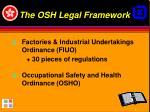 the osh legal framework