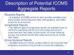 description of potential icoms aggregate reports