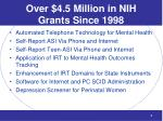 over 4 5 million in nih grants since 1998