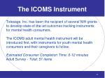 the icoms instrument