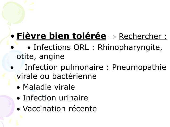 Fièvre bien tolérée