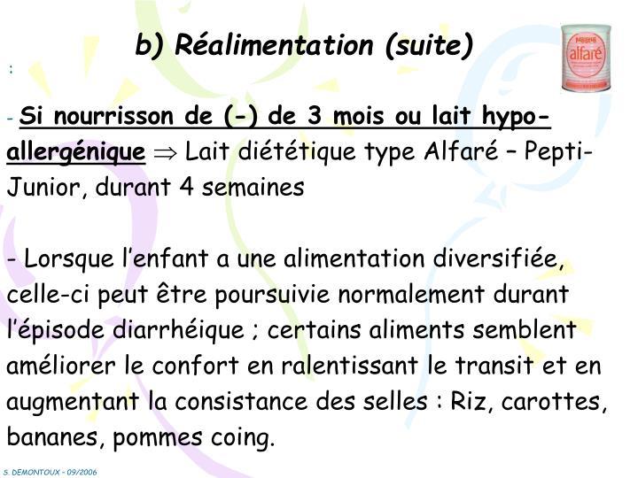 b) Réalimentation