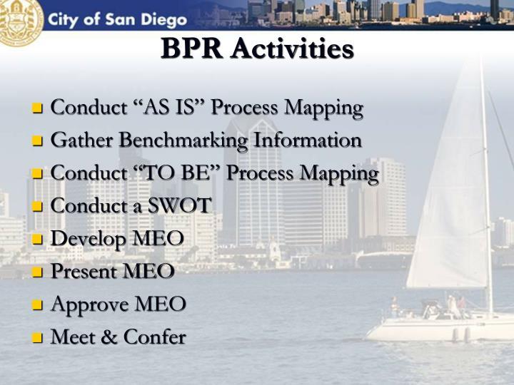 BPR Activities