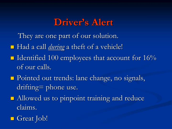 Driver's Alert