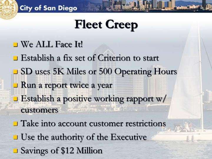 Fleet Creep