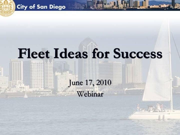 Fleet Ideas for Success