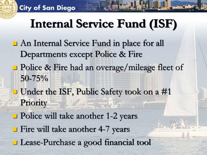 Internal Service Fund (ISF)