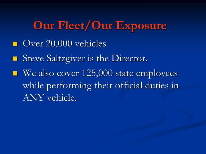 Our Fleet/Our Exposure