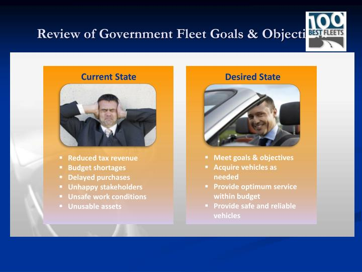 Review of Government Fleet Goals & Objectives