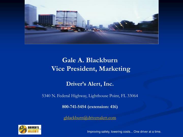 Gale A. Blackburn