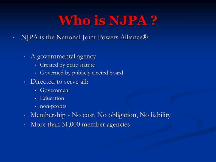 Who is NJPA ?