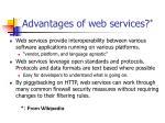 advantages of web services