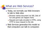 what are web services