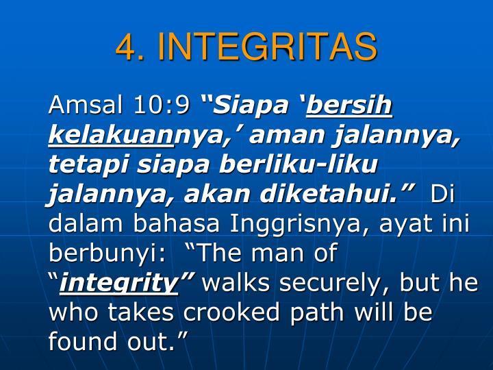 4. INTEGRITAS