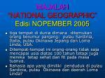 majalah national geographic edisi nopember 2005