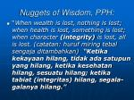 nuggets of wisdom pph