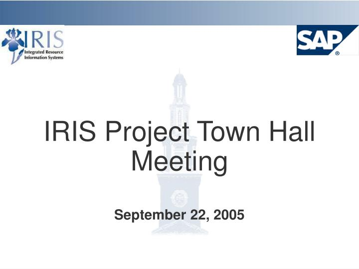 iris project town hall meeting n.