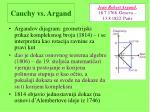 cauchy vs argand