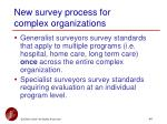 new survey process for complex organizations