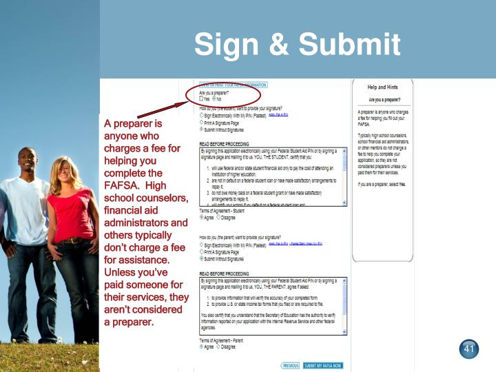 Sign & Submit