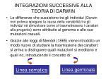 integrazioni successive alla teoria di darwin