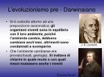 l evoluzionismo pre darwinaiano