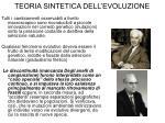 teoria sintetica dell evoluzione1