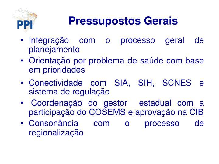 Pressupostos Gerais