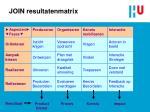 join resultatenmatrix