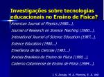 investiga es sobre tecnologias educacionais no ensino de f sica