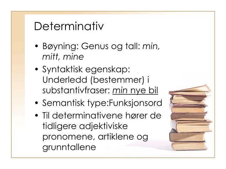 Determinativ