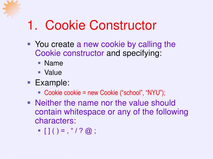1.  Cookie Constructor