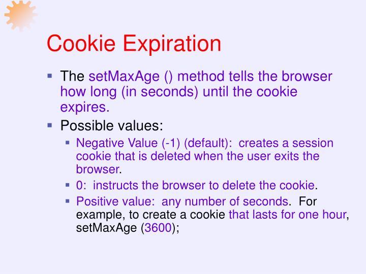 Cookie Expiration