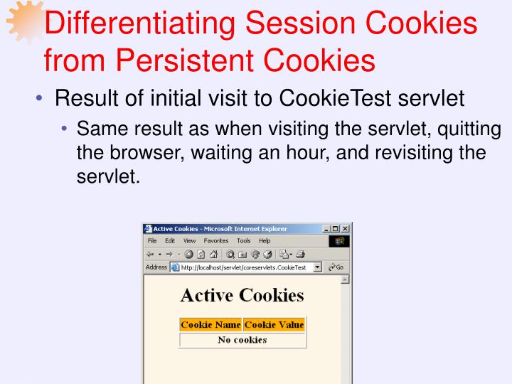 Differentiating Session Cookies from Persistent Cookies