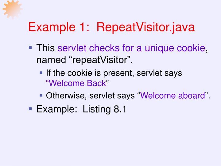 Example 1:  RepeatVisitor.java