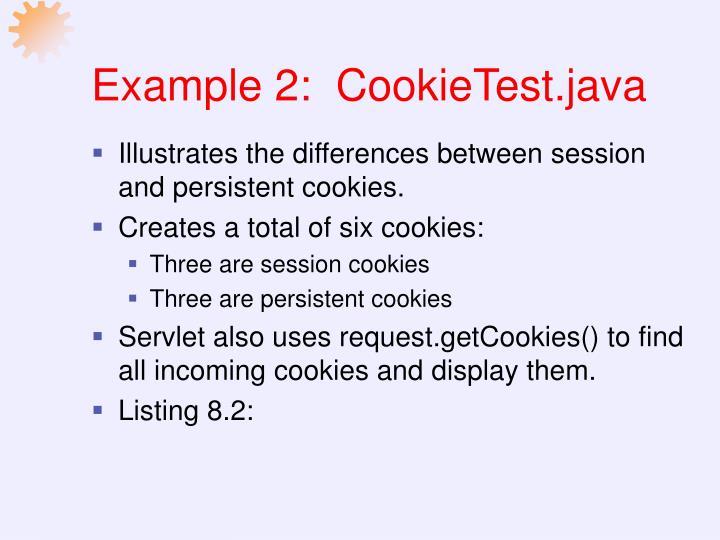 Example 2:  CookieTest.java