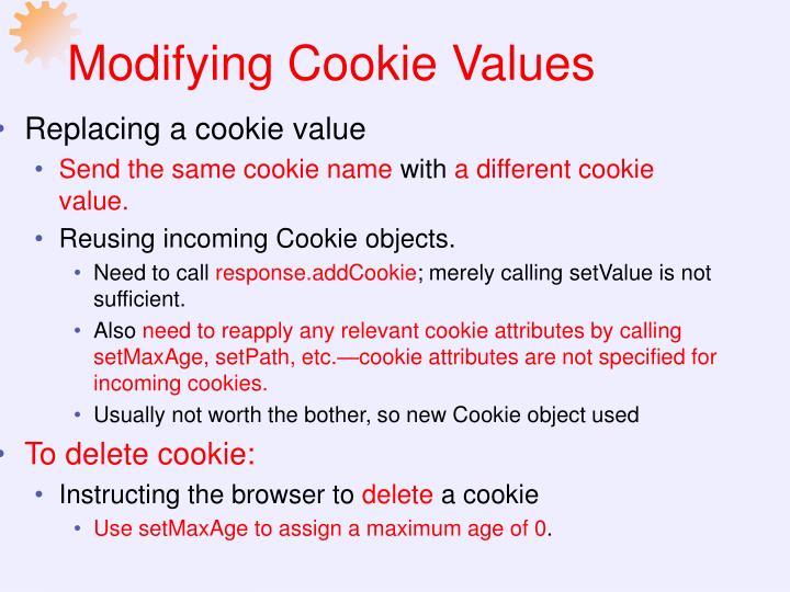 Modifying Cookie Values