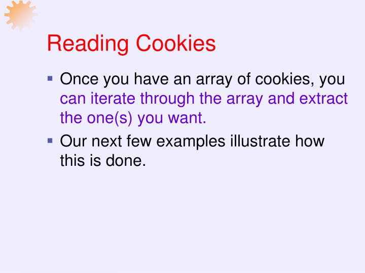Reading Cookies