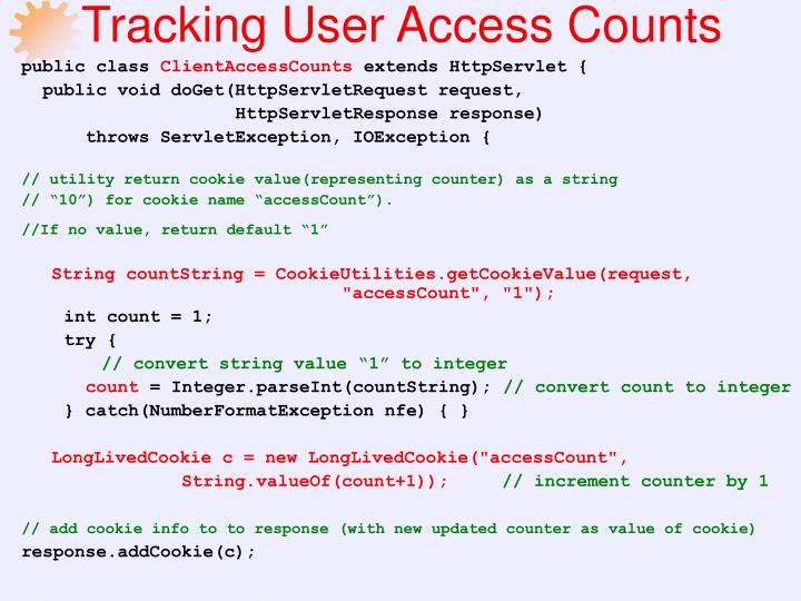 Tracking User Access Counts