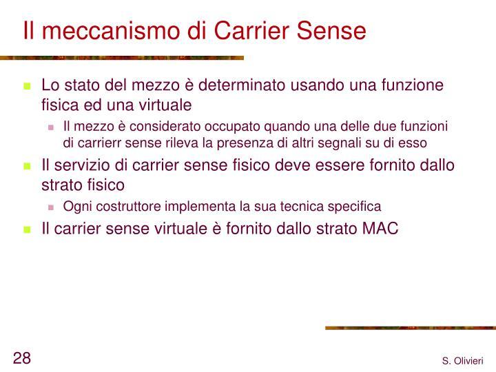 Il meccanismo di Carrier Sense