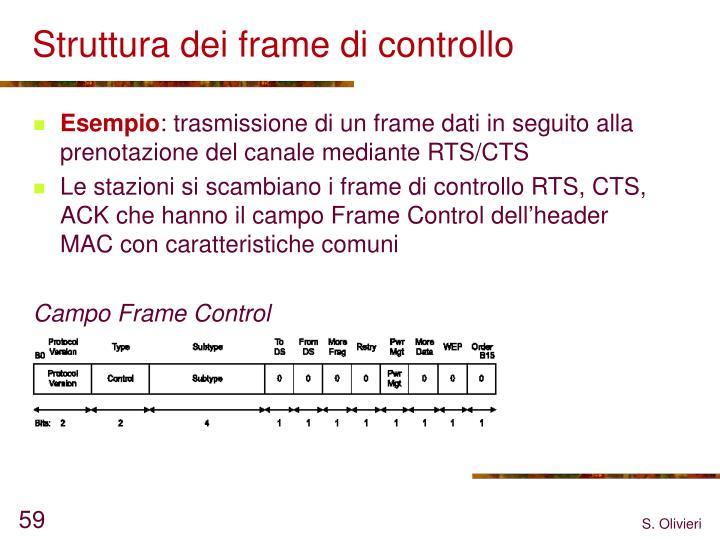 Struttura dei frame di controllo