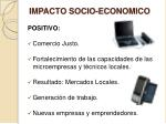 impacto socio economico