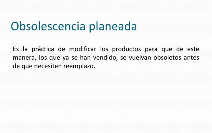 Obsolescencia planeada
